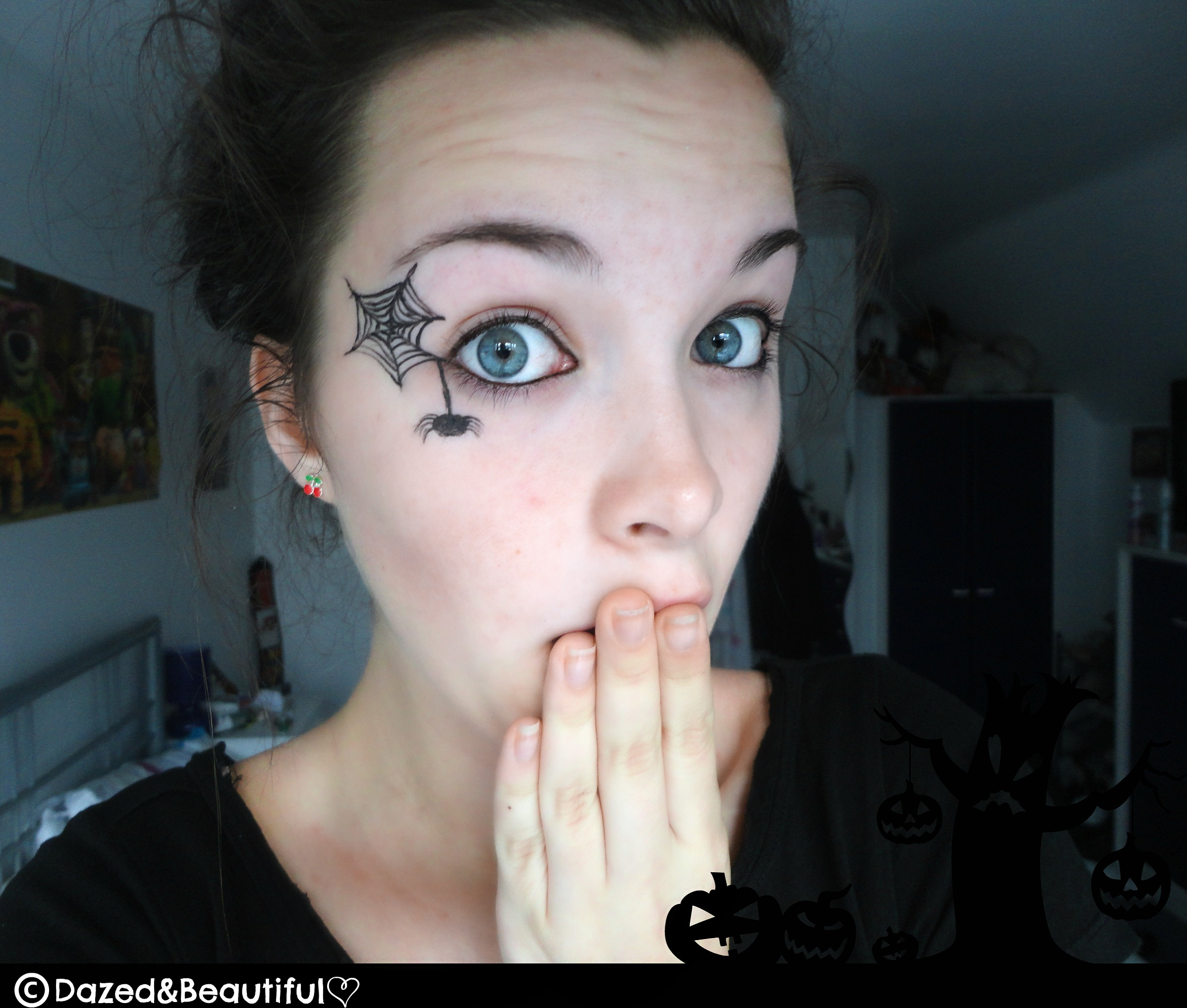 spiderweb Dazed&ampBeautiful - Cute And Easy Halloween Makeup