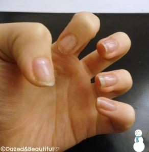 step 1 christmas nails copyright