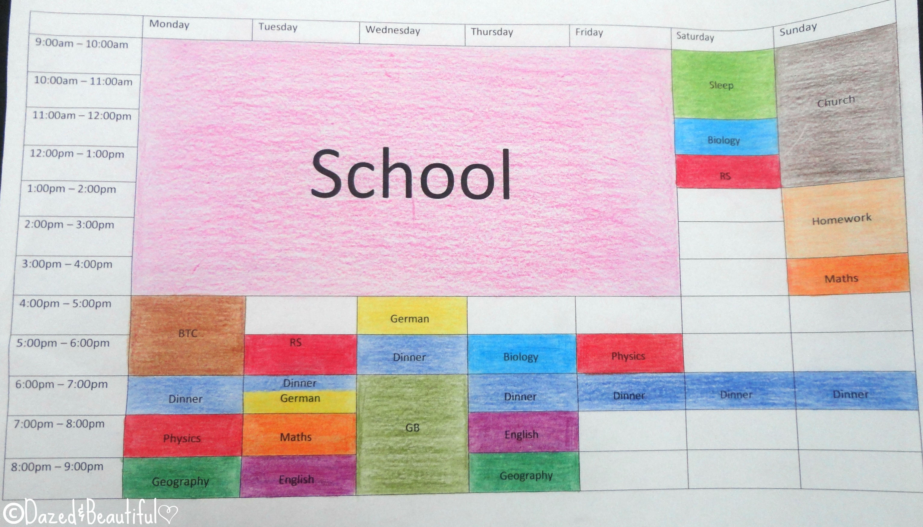how to make a revision timetable - Ex
